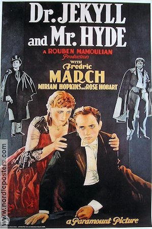 Dr Jekyll and Mr Hyde 1931 Movie poster Fredric March Rouben Mamoulian