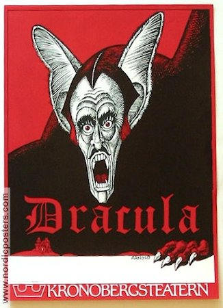 Dracula Kronobergsteatern 1978 Poster Hans Arnold