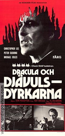 The Satanic Rites of Dracula Poster 30x70cm NM original