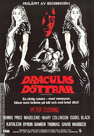 Twins of Evil 1972 Peter Cushing Dennis Price Kathleen Byron