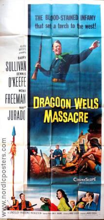 Harold D Schuster Dragoon Wells Massacre Movie Poster 1957