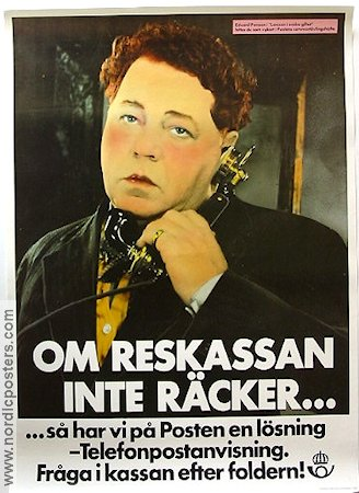 Posten reklam 1982 Poster Edvard Persson