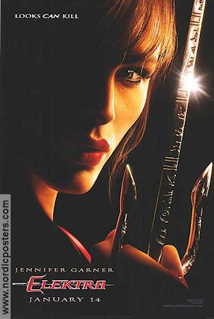 Elektra 2004 Movie poster Jennifer Garner