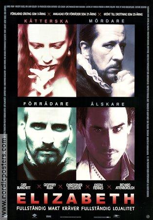 elizabeth movie poster 1998 original nordicposters