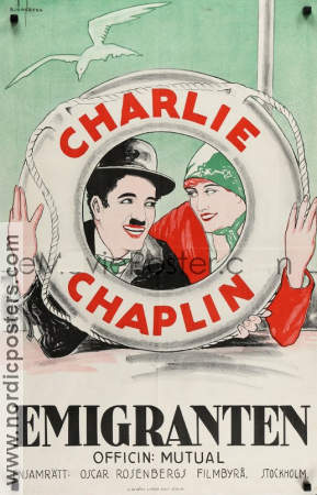 The Immigrant 1917 poster Charlie Chaplin