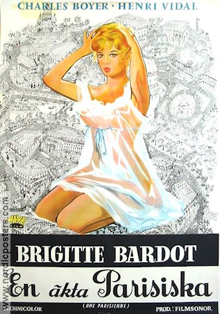 Une Parisienne 1958 Movie poster Brigitte Bardot
