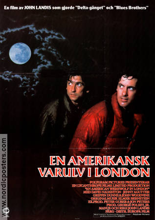 An American Werewolf in London 1981 Movie poster David Naughton John Landis