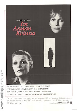 Another Woman 1988 poster Mia Farrow Woody Allen