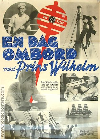 En dag ombord 1935 Movie poster Prins Wilhelm