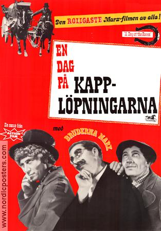 A Day at the Races 1937 poster Bröderna Marx Sam Wood