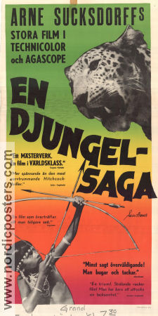 En djungelsaga 1957 Movie poster Arne Sucksdorff