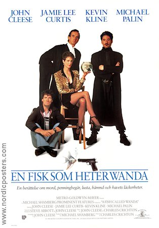 A Fish Called Wanda 1988 Movie poster John Cleese