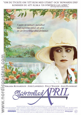 Enchanted April 1992 Movie poster Miranda Richardson Mike Newell