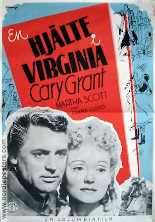 The Homewards of Virginia 1941 poster Cary Grant