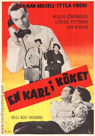 En karl i köket 1954 Movie poster Herman Ahlsell