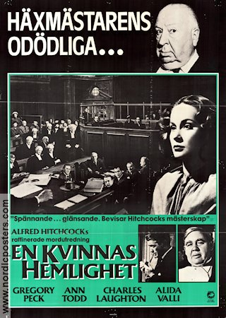 The Paradine Case 1947 Movie poster Ann Todd Alfred Hitchcock