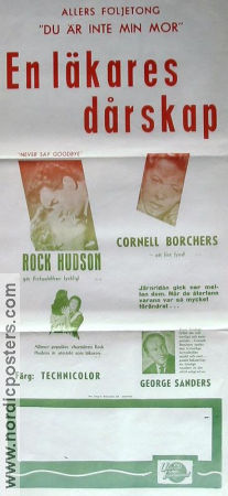 Never Say Goodbye 1960 poster Rock Hudson