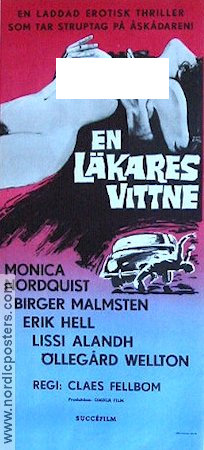 En l�kares vittne 1969 Movie poster Monica Nordquist