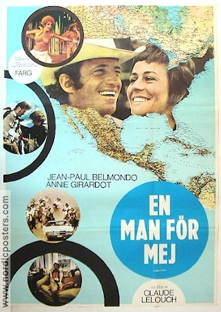 A Man in Love 1970 Movie poster Anne Girardot Claude Lelouch