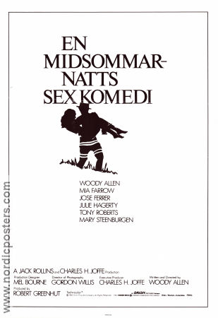 En midsommarnatts sexkomedi 1982 Movie poster Mia Farrow Woody Allen