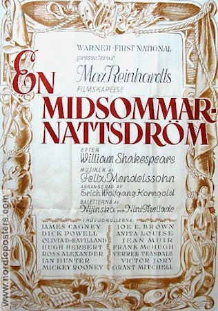 A Midsummer Night´s Dream 1936 poster