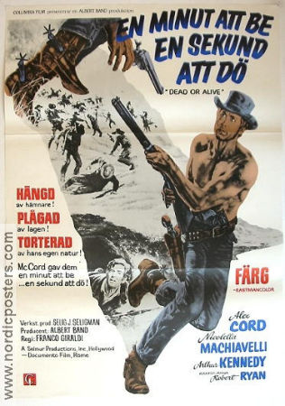 Dead or Alive 1968 Movie poster Alex Cord