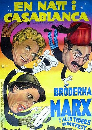 A Night in Casablanca 1946 Movie poster Marx Brothers