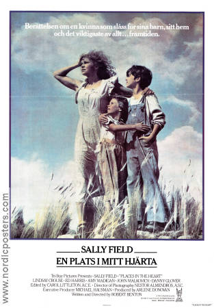 Places in the Heart 1984 poster Sally Field Robert Benton