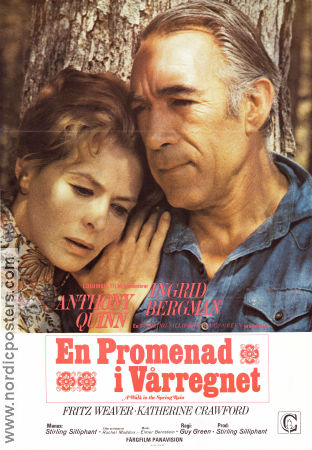 A Walk in the Spring Rain 1970 poster Ingrid Bergman