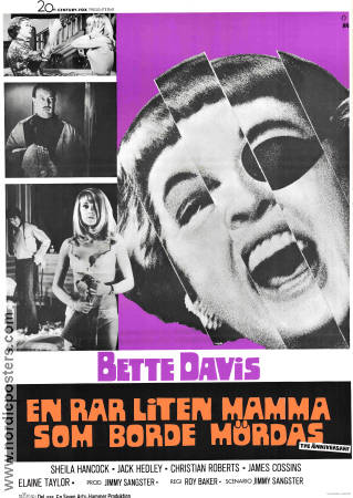 The Anniversary 1969 poster Bette Davis Roy Baker