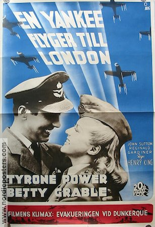 A Yank in the R.A.F 1942 poster Tyrone Power