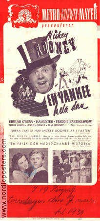 A Yank at Eton 1942 poster Mickey Rooney