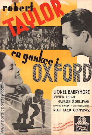 A Yank at Oxford 1938 poster Robert Taylor Jack Conway