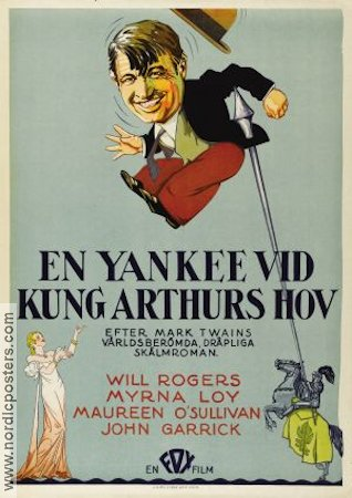 A Connecticut Yankee 1931 poster Will Rogers