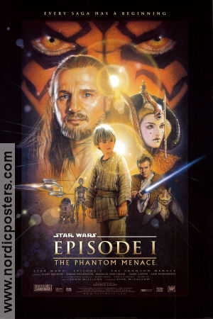 Episode I The Phantom Menace 1999 Movie poster Liam Neeson George Lucas