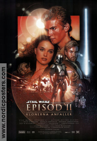 Episode II Attack of the Clones 2002 Ewan McGregor Natalie Portman Hayden Christensen Christopher Lee Star Wars