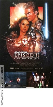 Episode II Attack of the Clones 2002 Movie poster Ewan McGregor