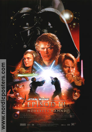 Episode III Revenge of the Sith 2005 Movie poster Ewan McGregor George Lucas