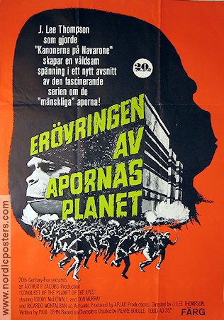 The Conquest of the Planet of the Apes 1972 poster Roddy McDowall