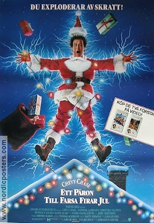 National Lampoon's Christmas Vacation poster 1990 Chevy Chase original