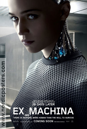 Ex Machina 2014 poster Alicia Vikander Alex Garland