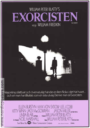 The Exorcist 1974 poster Max von Sydow William Friedkin