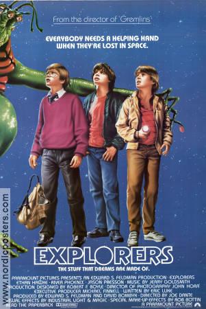 Explorers poster USA 1985 Ethan Hawke director Joe Dante original