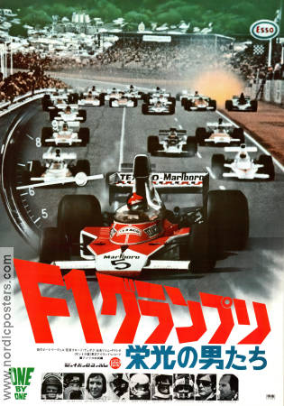 F1 One By One 1975 poster Claude Du Boc