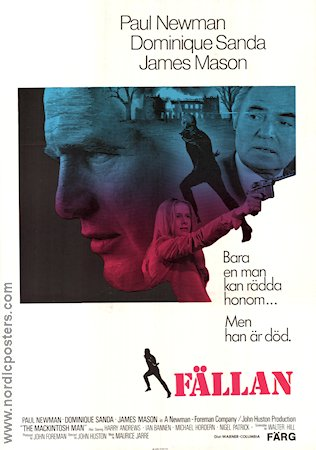 The Mackintosh Man 1973 Movie poster Paul Newman