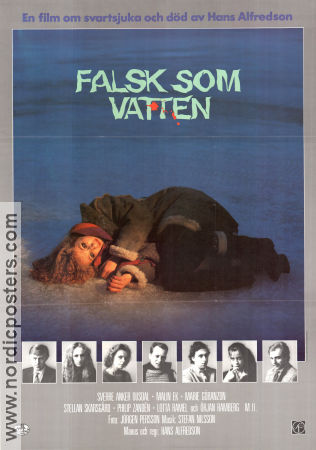 Falsk som vatten 1985 Movie poster Malin Ek Hans Alfredson