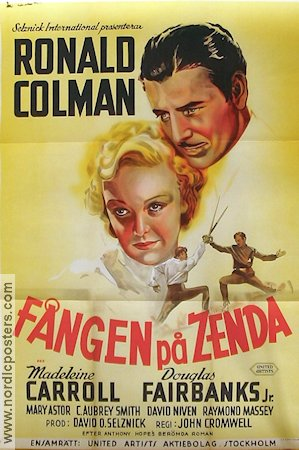 The Prisoner of Zenda 1938 poster Ronald Colman