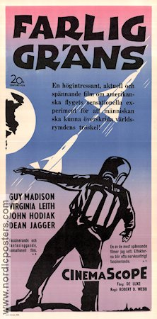 On the Threshold of Space 1956 poster Guy Madison Robert D Webb