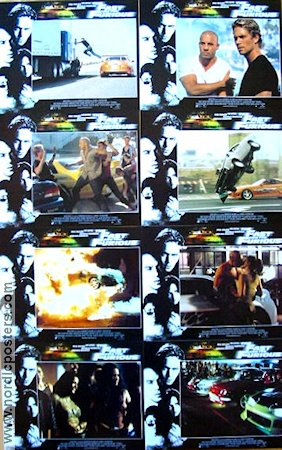 The Fast and the Furious 2001 lobby card set Paul Walker Rob Cohen