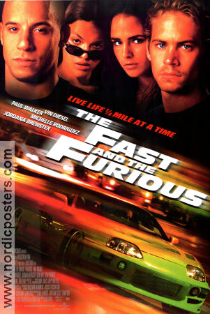 The Fast and the Furious 2001 poster Paul Walker Rob Cohen